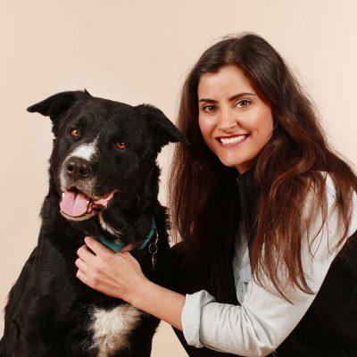 Julia mit Hund Paco